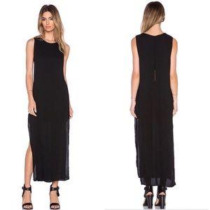 YFB Mila Split Side Maxi Dress Size XS Gray Color